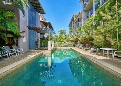Pool at Cairns City Getaway holiday apartments